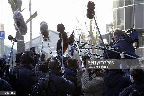 Illustration the media in Arlon Belgium on March 03 2004