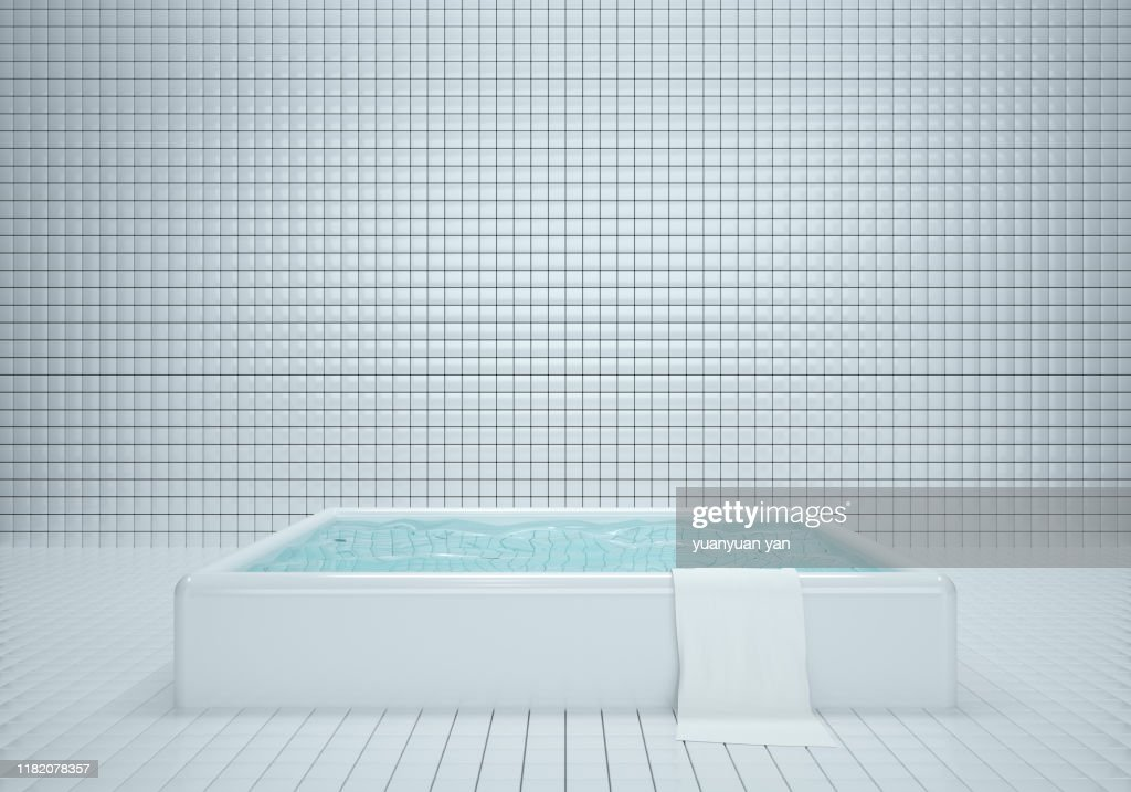 3D illustration tiles wall interiors backgrounds : ストックフォト