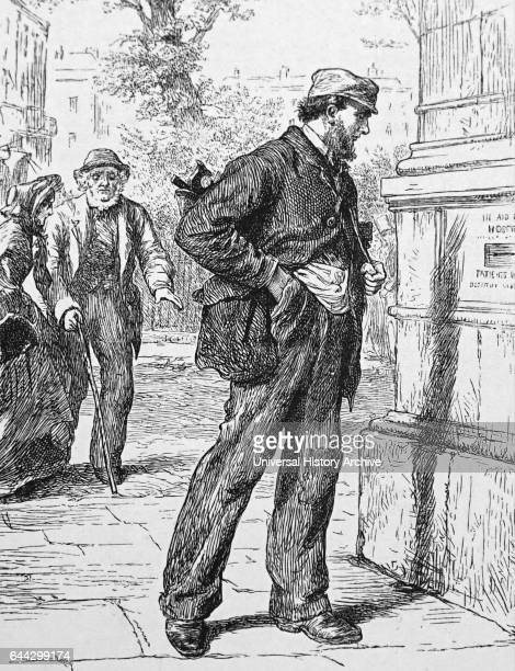 Illustration titled 'Blessed to Give' Illustrated by Robert Barnes Dated 19th Century