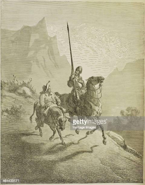 Illustration to the book Don Quixote de la Mancha by M de Cervantes 1863 From a private collection