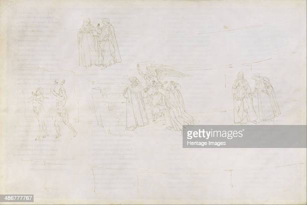 Illustration to the Divine Comedy by Dante Alighieri 14801490 Artist Botticelli Sandro