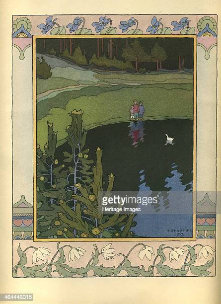 Illustration to the fairytale The White Duck 1902 Found in the collection of the Museum of the Goznak Moscow