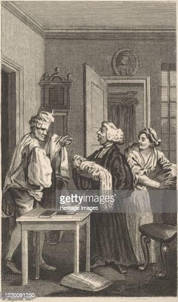 Illustration to Tristram Shandy Volume 4 19th century Artist Unknown