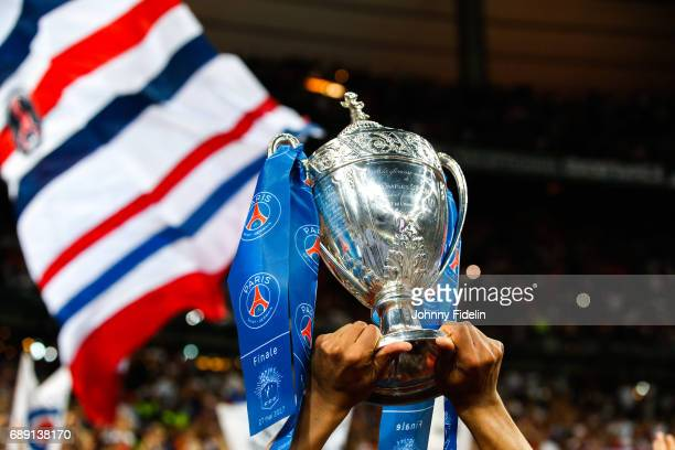 Illustration Trophy after winning the National Cup Final match between Angers SCO and Paris Saint Germain PSG at Stade de France on May 27 2017 in...