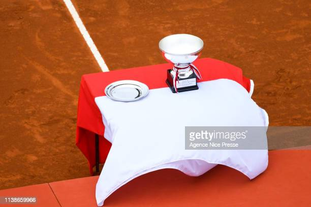 Illustration Trophy during the 2019 Monte Carlo Rolex Masters 1000 day one on April 21 2019 in Monaco Monaco
