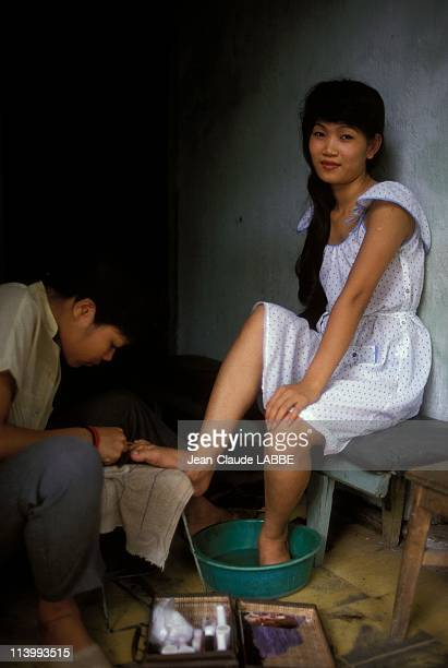 Illustration Vietnam from north to south in Ha Noi Vietnam in May 1994Hanoi beauty cure