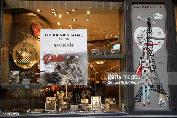 Illustration view during Reem Kherici signs her book 'Diva' at the Barbara Rihl Boutique on November 8 2017 in Paris France