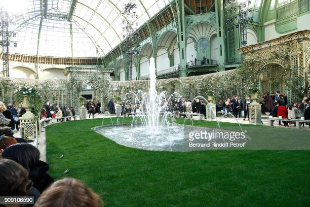 Illustration view during the Chanel Haute Couture Spring Summer 2018 show as part of Paris Fashion Week on January 23 2018 in Paris France