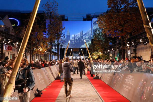 Illustration view during the Fantastic Beasts The Crimes of Grindelwald World Premiere at UGC Cine Cite Bercy on November 8 2018 in Paris France