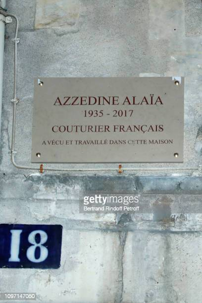 Illustration view during the Tribute To Azzedine Alaia as part of Paris Fashion Week on January 20 2019 in Paris France