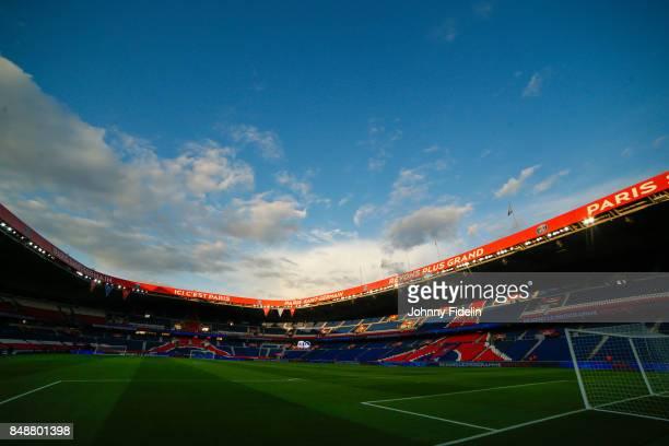 Illustration View General Parc des Princes during the Ligue 1 match between Paris Saint Germain and Olympique Lyonnais at Parc des Princes on...