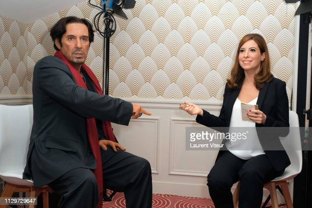 Illustration View of Al Pacino Wax Work and Lea Salame Wax Work during Lea Salame Wax Work Unveiling at Musee Grevin on February 14 2019 in Paris...