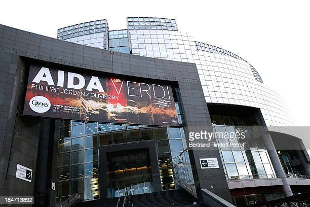 Illustration view of AROP Gala at Opera Bastille with a representation of 'Aida' on October 15 2013 in Paris France