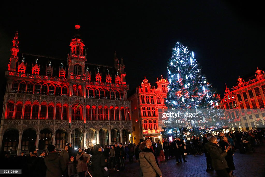 illustration view of brussel christmas animations whereas 2016 new