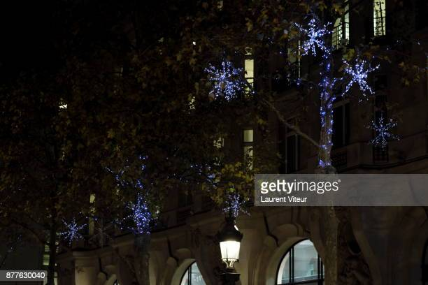 Illustration View of Chrimas Lights Launch on the Champs Elysees on November 22 2017 in Paris France