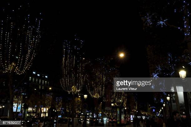 Illustration View of Christmas Lights on the Champs Elysees on November 22 2017 in Paris France