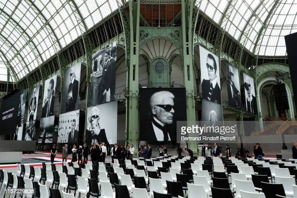 "Illustration View of ""Karl for Ever"" Tribute to Karl Lagerfeld at Grand Palais on June 20, 2019 in Paris, France."