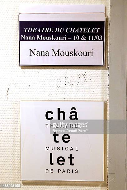 Illustration view of Nana Mouskouri on her Happy Birthday Tour Held at 'Theatre du Chatelet' on March 10 2014 in Paris France