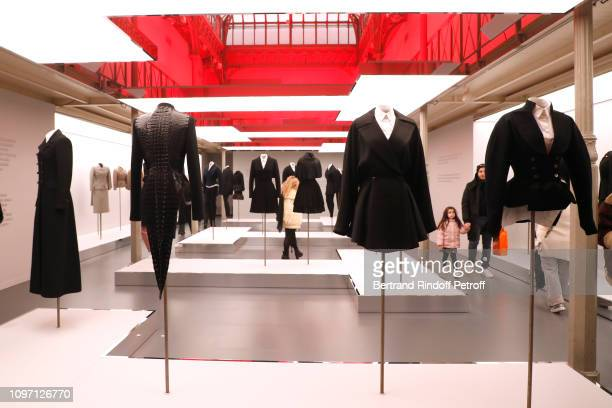 Illustration view of the 'Adrian and Alaia L'art du tailleur' Exhibition during the Tribute To Azzedine Alaia as part of Paris Fashion Week on...