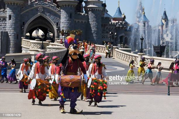 Illustration View of the Big Parade during the Lion King Festival At Disneyland Paris on June 29 2019 in Paris France