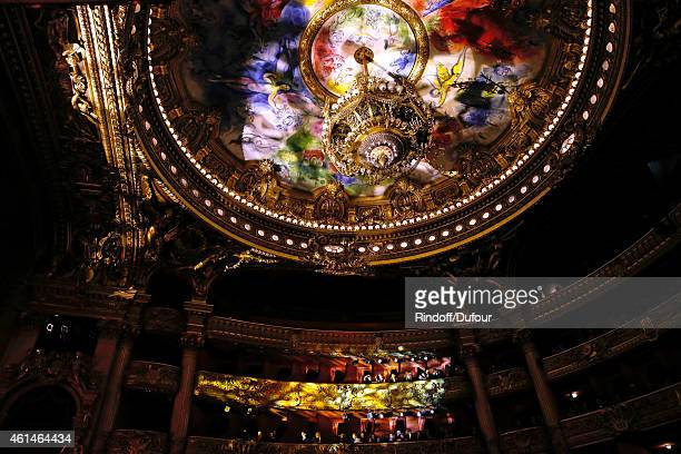 Illustration view of the ceiling of the Opera Garnier painted by Marc Chagall during Weizmann Institute celebrates its 40 Anniversary at Opera...