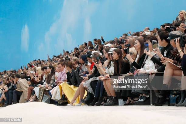 Illustration view of the 'Chanel's Beach' during the Chanel show as part of the Paris Fashion Week Womenswear Spring/Summer 2019 on October 2 2018 in...