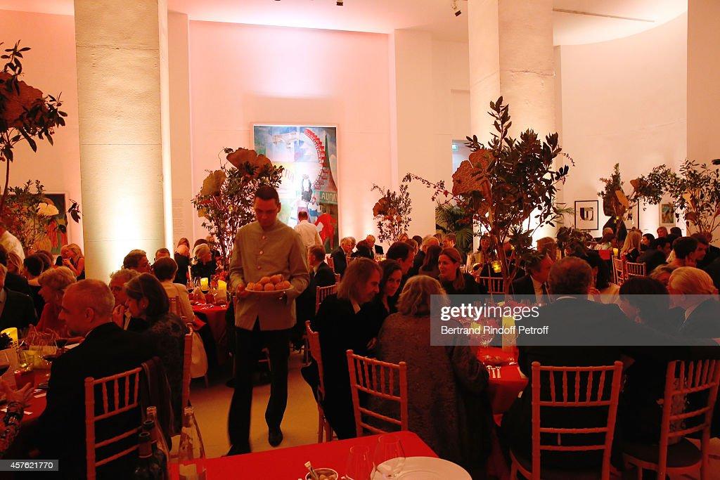 Illustration view of the 'Diner des Amis du Musee d'Art Moderne' at Musee d'Art Moderne on October 21, 2014 in Paris, France.
