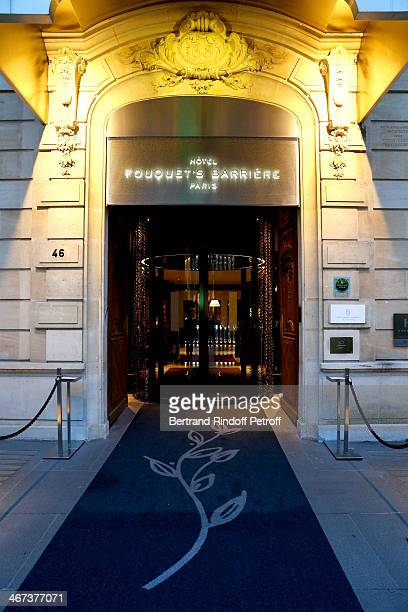 Illustration view of the Fouquet's Barriere Hotel whyle the Arthur Aubert Exhibition opening party Held at Le Fouquet's Barriere Hotel on February 6...