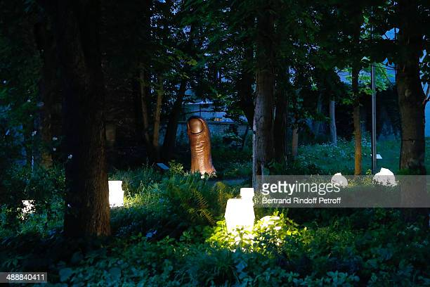 Illustration view of the garden whyle the 'Fondation Cartier pour l'art contemporain' celebrates its 30th anniversary on May 8 2014 in Paris France
