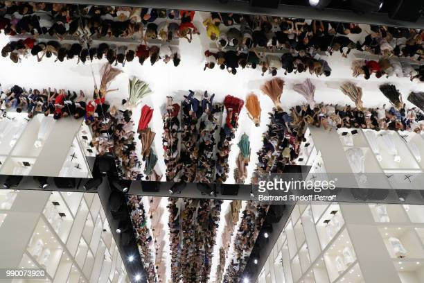 Illustration view of the mirror ceiling during the Christian Dior Haute Couture Fall Winter 2018/2019 show as part of Paris Fashion Week on July 2,...