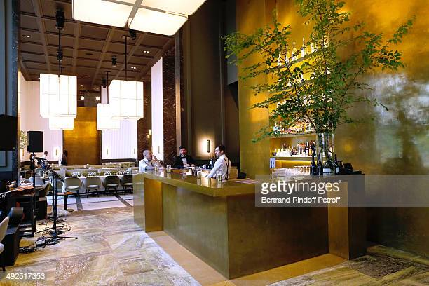 Illustration View Of The Monsieur Bleu Restaurant Whyle The Friends Of Palais De Tokyos