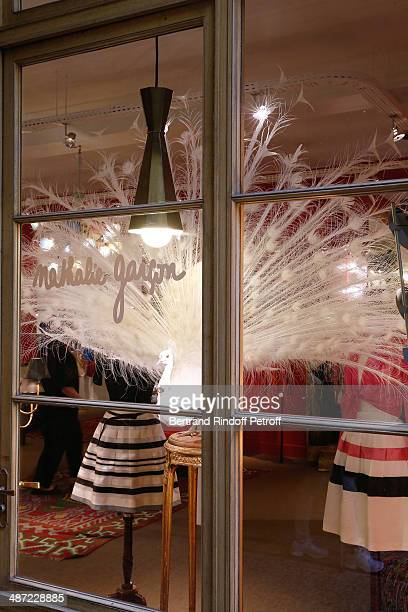 Illustration view of the Nathalie Garcon store whyle the 'Charriol' Ephemeral Boutique opening hosted by Nathalie Garcon at Galerie Vivienne on April...