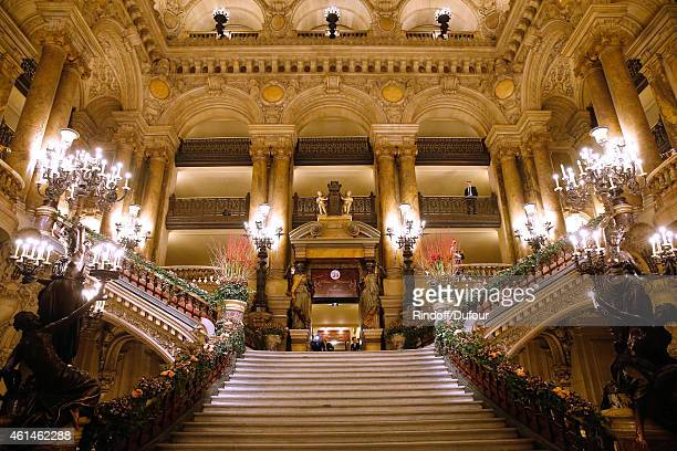 Illustration view of the Opera Garnier during Weizmann Institute celebrates its 40 Anniversary at Opera Garnier in Paris on January 12 2015 in Paris...