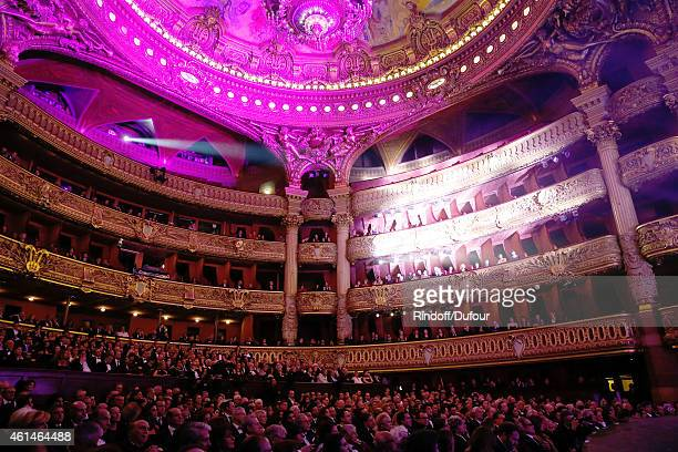 Illustration view of the Opera Garnier whose ceiling was painted by Marc Chagall during Weizmann Institute celebrates its 40 Anniversary at Opera...