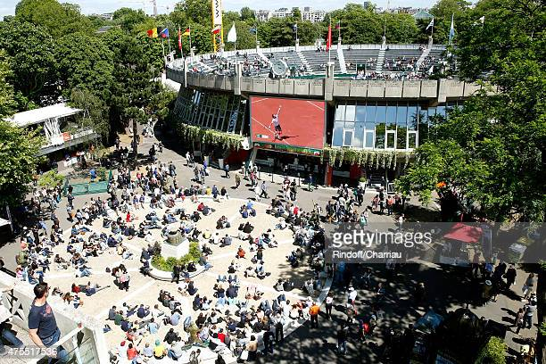 Illustration view of the 'Place des Mousquetaire' at Roland Garros during the 2015 Roland Garros French Tennis Open Day Nine on June 1 2015 in Paris...