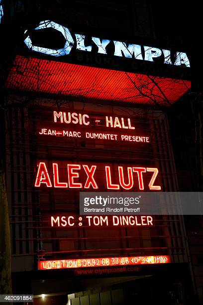 Illustration view of the Poster during Humorist Alex Lutz performs in his One man Show at L'Olympia In Paris at L'Olympia on January 23 2015 in Paris...