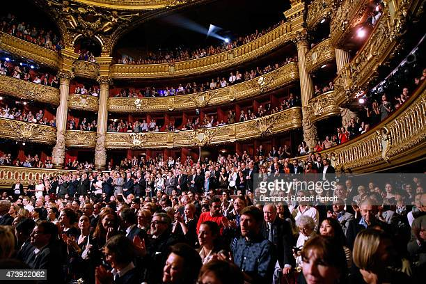 Illustration view of the public during Star Dancer Aurelie Dupont says goodbye to the Paris Opera performing in 'L'histoire de Manon' at Opera...