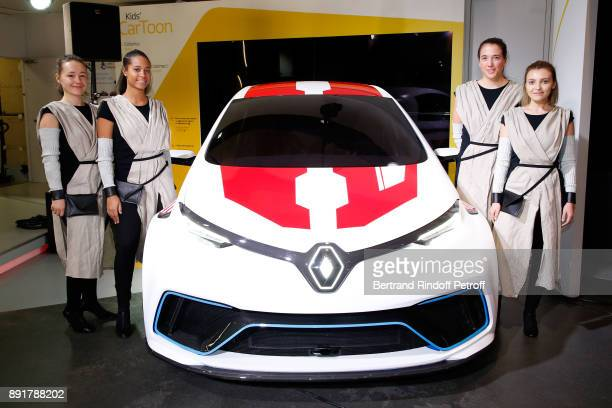Illustration view of the Renault Zoe eSport Concept during the 'Star Wars x Renault' Party at Atelier Renault on December 13 2017 in Paris France