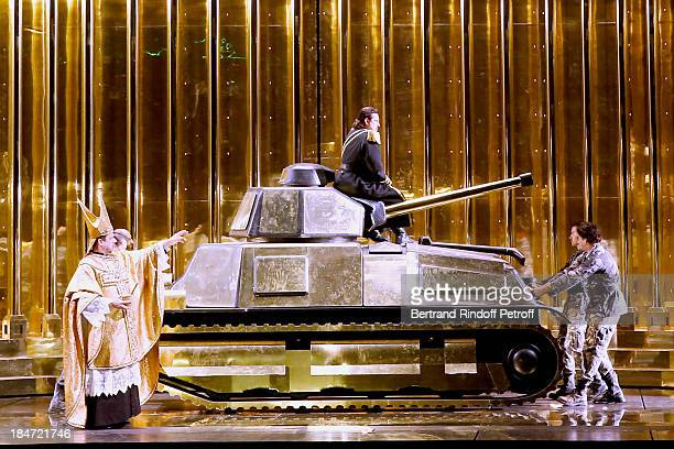 Illustration view of the representation - AROP Gala at Opera Bastille with a representation of 'Aida' on October 15, 2013 in Paris, France.