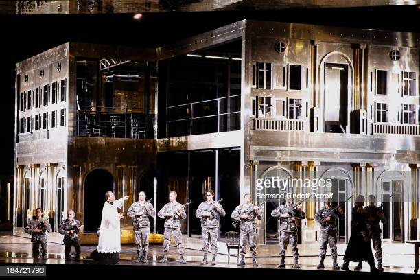 Illustration view of the representation AROP Gala at Opera Bastille with a representation of 'Aida' on October 15 2013 in Paris France