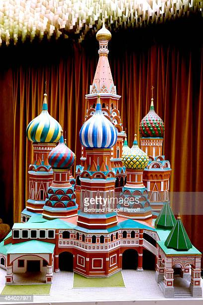 Illustration view of the Reproduction of Cathedrale SainteBasile of Moscow in the Russia Ambassy whyle the celebration of 26 Years of Russian French...