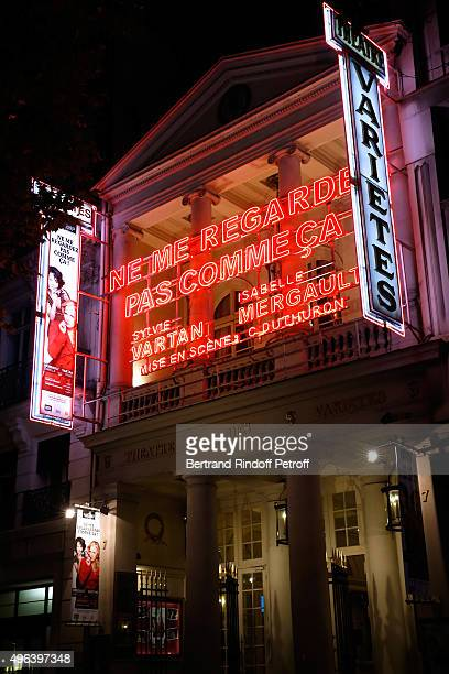 Illustration view of the Theater Play 'Ne me regardez pas comme ca ' performed at 'Theatre Des Varietes' on September 25 2015 in Paris France