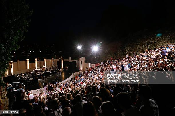 Illustration view of the 'Theatre de Verdure' before the Laurent Gerra's Show during the 30th Ramatuelle Festival Day 4 on August 4 2014 in...