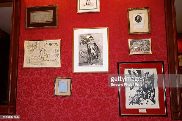Illustration view of the 'Theatre Des Varietes' during the Theater Play Theater Play 'Ne me regardez pas comme ca ' performed at 'Theatre Des...