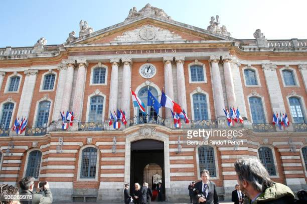 Illustration view of the Toulouse City Hall - Meeting at Toulouse City Hall during the State Visit in France of Grand-Duc Henri and Grande-Duchesse...