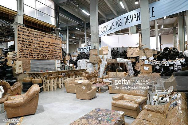 Illustration view of the work 'Eternal Flame' from contemporary artist Thomas Hirschhorn whyle the Friend's of Palais De Tokyo's Dinner Held at...