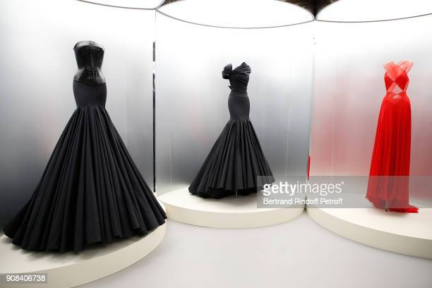 """Illustration view of work of Azzedine Alaia during the """"Azzedine Alaia : Je Suis Couturier"""" Exhibition as part of Paris Fashion Week. Held at..."""