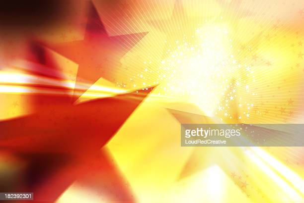 Illustration with star shapes and bright light