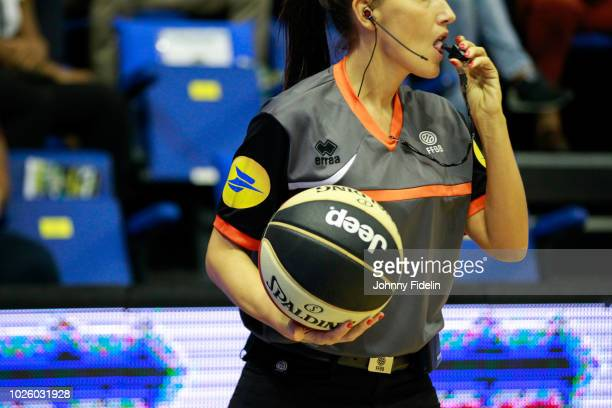 Illustration Women's Referee during the Trophy Michael Brooks match between Levallois Metropolitans and Limoges on September 1 2018 in Paris France