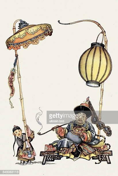 Illustration zu `Die Nachtigall'von Hans Christian Andersen